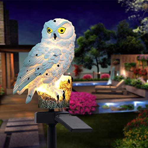 Garden Solar Lights, Owl Shape Waterproof LED Outdoor Lights, Garden Ornaments for Lawn, Pathway,...