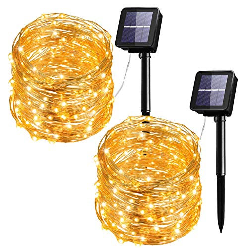 Mpow Solar String Lights, 33ft 100LED Outdoor String Lights, Waterproof Decorative String Lights for...