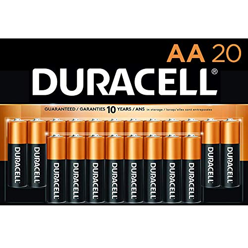 Duracell - CopperTop AA Alkaline Batteries - Long Lasting, All-Purpose Double A battery for...