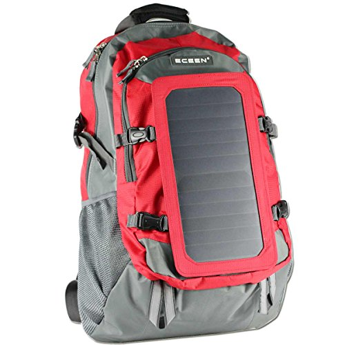 Solar Backpack With Solar Charger Panel For Phones & 5V Device Power Supply