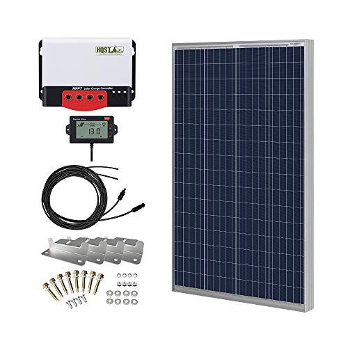 HQST 100 Watt 12 Volt Polycrystalline Solar Panel Kit with 20A 12/24V MPPT Solar Charge Controller,...