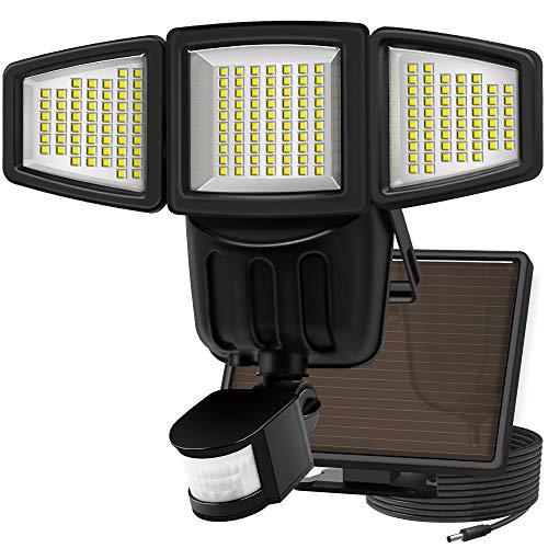 Solar Lights Motion Sensor, Costech 182 LED 1000 Lumens Outdoor Sensor Light Weatherproof Triple...