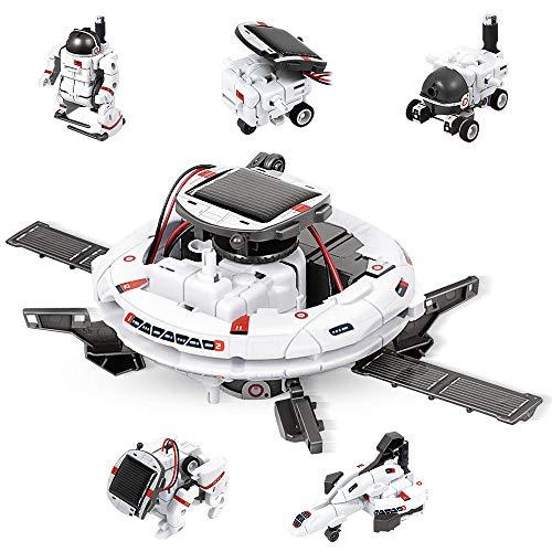 Anpro Solar Robot kit, STEM Toys 6-in-1 Solar Robot Kit Learning Science Building Toys, Solar Robot...