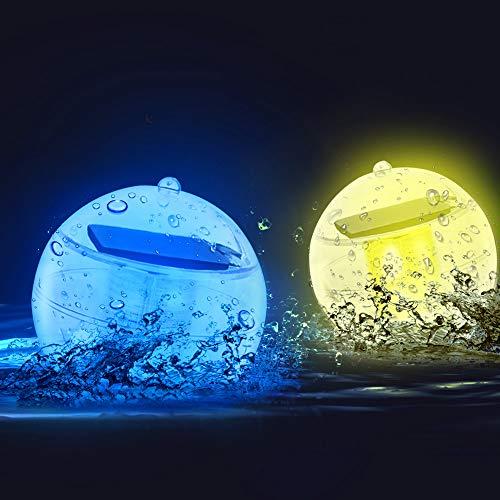 LETOUR Decorative Lights LED Solar Floating Pool Lights RGB Flash Lights, Colorful Lamps Floating...
