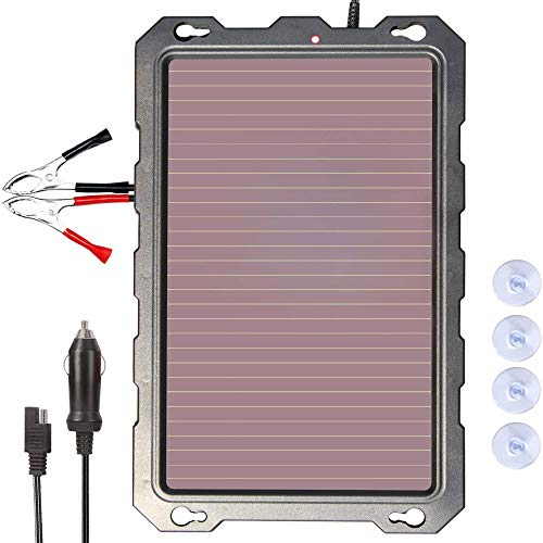POWOXI 3.3W-Solar-Battery-Trickle-Charger-Maintainer -12V Portable Waterproof Solar Panel Trickle...