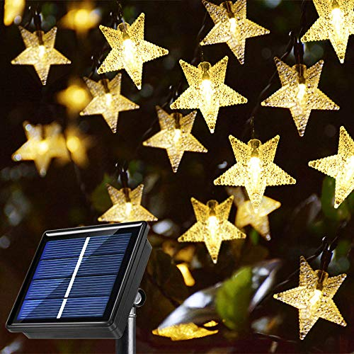 Windpnn Solar String Lights Outdoor, Solar Powered Star String Lights, 30ft 50LED 8 Modes Waterproof...