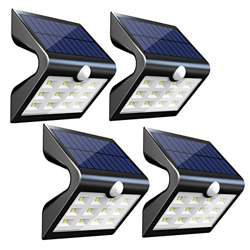 InnoGear Upgraded Solar Wall Lights Outdoor Waterproof Wireless Motion Sensor Lights Auto On/Off for...