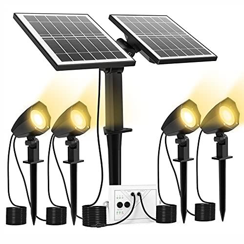 CLY Solar Spotlights LED 4 in 1, Solar Landscape Lights Solar Spot Lights Outdoor, Waterproof IP66,...