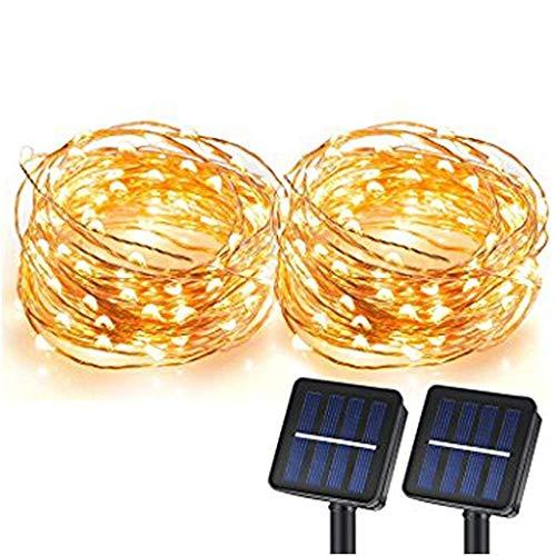 Solar String Lights, Sunlitec 100 LEDs Starry String Lights, Copper Wire Solar Lights Ambiance...