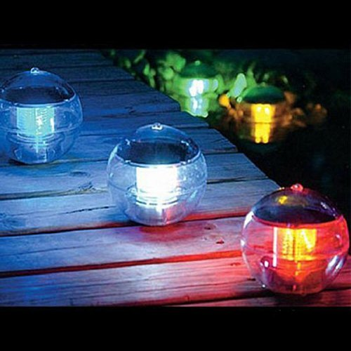 Aberobay Solar Power Waterproof Automatic Color Changing LED 7 Colors Floating Swimming Lantern...