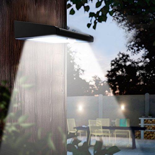 2 Pack 30 LED Solar Lights Outdoor, Avaspot【Upgraded Version】Solar Powered Security Light,...