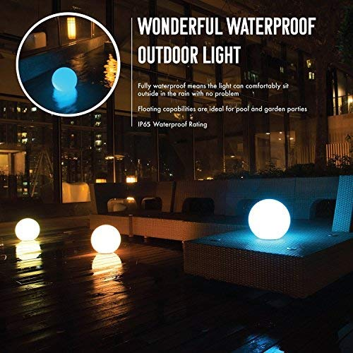 SUNWIND Solar Ball Lights Outdoor Color Changing LED Floating Pool Lights Waterproof Globe Lamps...
