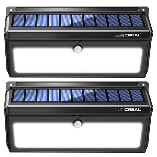 Luscreal 100 LED Super Bright Solar Motion Sensor Security Wall Lights for Front Door Back Yard...