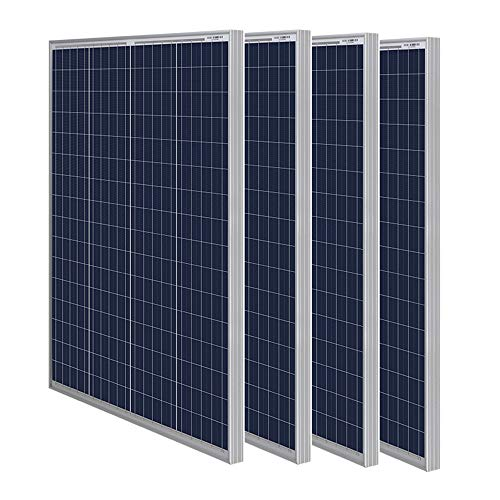 HQST 150 Watt 12 Volt Polycrystalline Solar Panel with Connectors High Efficiency Module PV Power...