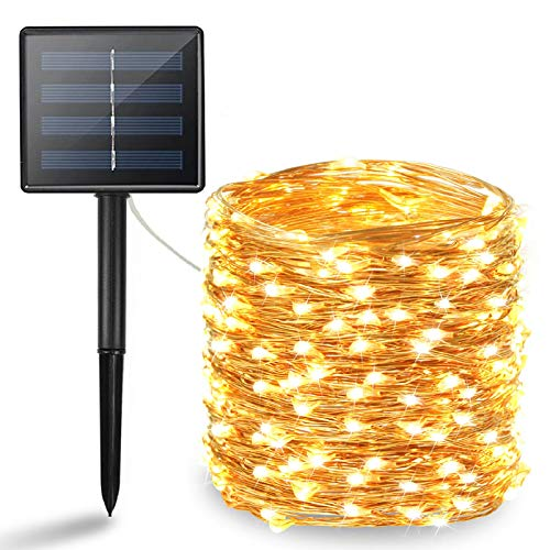 BHCLIGHT Solar String Lights Outdoor, Upgraded 200 LED Waterproof Solar Lights with Bigger Solar...