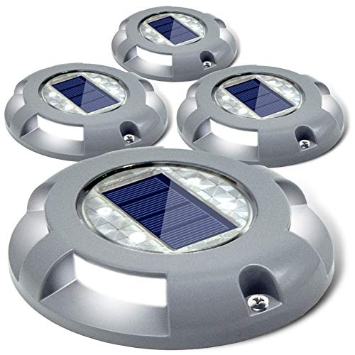 Siedinlar Solar Deck Lights Driveway Dock LED Light Solar Powered Outdoor Waterproof Road Markers...