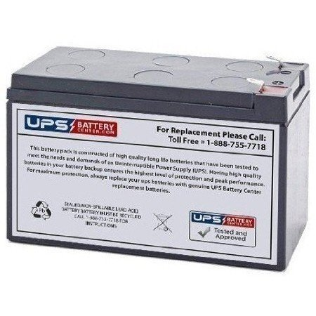 Power King PK1270 12V 7Ah Sealed Lead Acid Replacement Battery with F1 Terminals