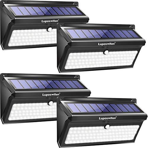 Luposwiten Solar Lights Outdoor, 100 LED Waterproof Solar Powered Motion Sensor Security Light,...
