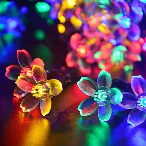 Qedertek 21ft 50 LED Solar String Lights, Fairy Blossom Solar Flower Garden Lights for Outdoor,...