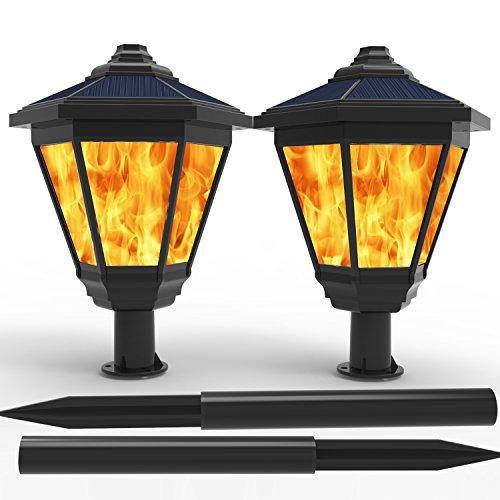 Lampat Solar Lights, Waterproof Flickering Flames Torches Lights Outdoor Landscape Decoration...