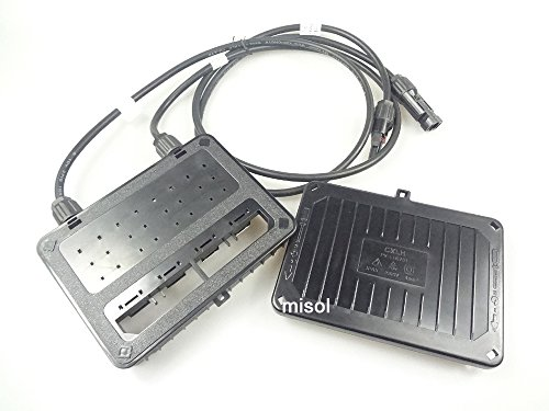 MISOL Junction Box with MC4 Connector+ Cable, Suitable for Solar Panel 200w to 300w, Solar Junction...