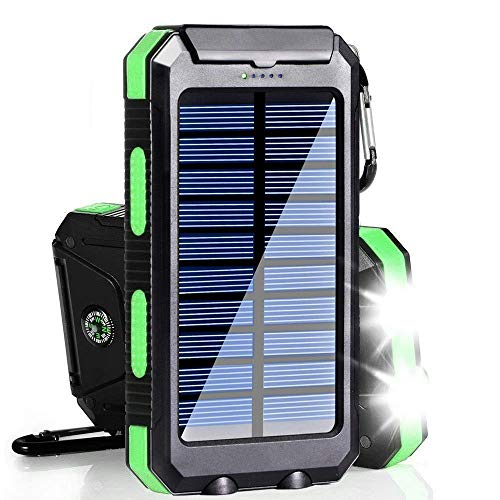 Solar Charger, 20000mAh Solar Power Bank Portable Charger for Camping External Battery Backup...