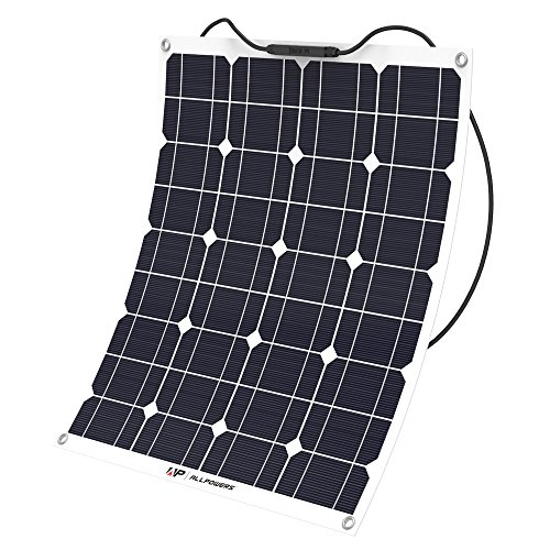 ALLPOWERS 50W 18V 12V Solar Panel Charger Water/Shock/Dust Resistant Solar Charger for RV, Boat,...