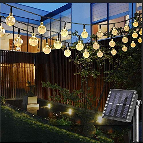 Solar String Lights Outdoor, 50 LED 24.6Ft Crystal Balls Waterproof Globe Solar Powered Fairy String...