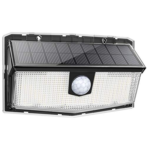 LITOM Solar Motion Lights Outdoor, Enhanced 63 LED Solar Lights with 3 Modes, 270°Wide Angle, IP65...