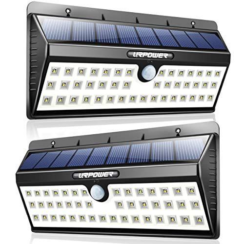 URPOWER Solar Lights, 44 LED Waterproof Motion Sensor Lights Outdoor Wireless Solar Powered Wall...