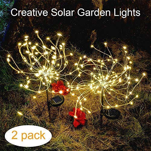 Outdoor Solar Garden Decorative Lights-Mopha Solar 105LED Powered 35Copper Wires Stake Landscape...