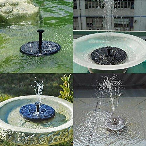 Alisabler Solar Power Fountain, Solar Panel Water Floating Fountain Pump Kit for Bird Bath Fish Tank...