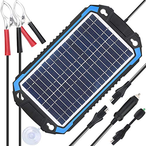 SUNER POWER 12V Solar Car Battery Charger & Maintainer - Portable 6W Solar Panel Trickle Charging...