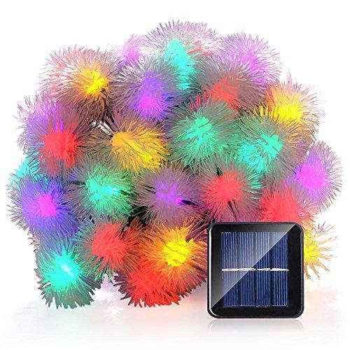 LUCKLED Chuzzle Ball Solar String Lights, 23ft 50 LED Fairy Halloween Decorative Solar Lights for...