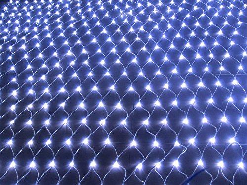 QCLED 100led Solar Powered Net Light Garden Net Lights Solar Lights Solar Lights(White)