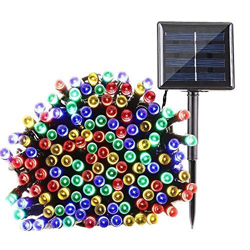 Qedertek 200 LED Solar Powered Christmas Lights, 72ft 8 Modes Fairy Lights Decorative Lighting for...