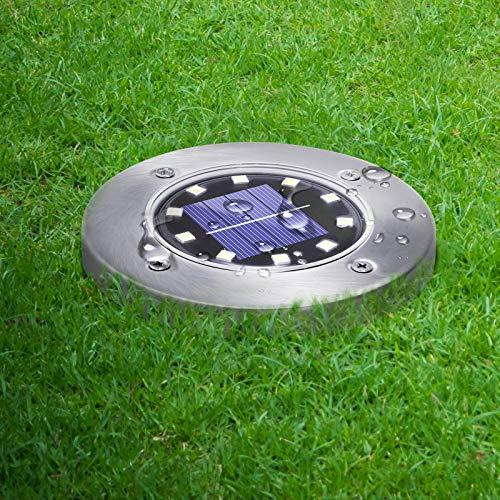 Solar Lights Outdoor, Newest Design Solar Disk Lights Outdoor, Waterproof Patio Garden Pathway...