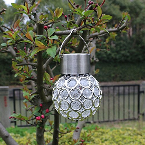 Practical Solar Chandelier,Efaster 1 Box 1PC Solar Lamp Crack Ball Hanging Lights Copper Wire Ball...